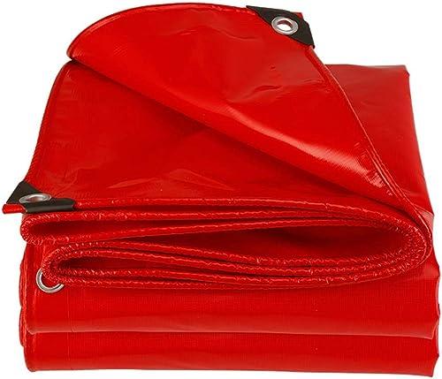 Baches Baches robustes - Couverture de remorque de tente imperméable, avec oeillets et bords renforcés - Rouge (taille   5×5m)