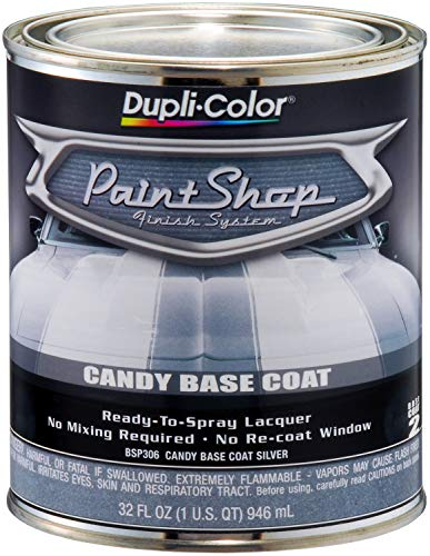 VHT BSP306 Candy Silver Base Coat Paint Shop Finish System 32 oz.