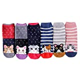 ZOOMY 6 Paar Frauen Winter Warm Cute Meow Cat Striped Coral Velvet Fuzzy Slipper Socken