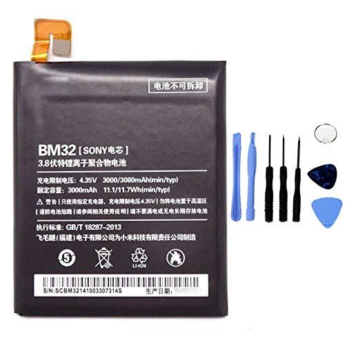 Ellenne Batería compatible con Xiaomi Mi 4 MI4 BM32 de alta capacidad 3000 mAh con kit de desmontaje incluido