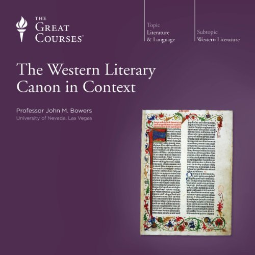 The Western Literary Canon in Context audiobook cover art