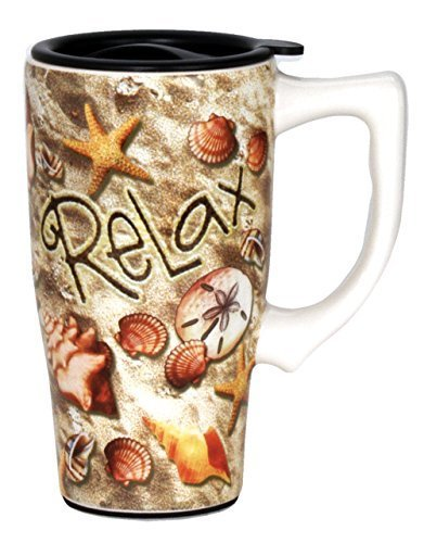 Spoontiques Relax Travel Mug, Brown by Spoontiques