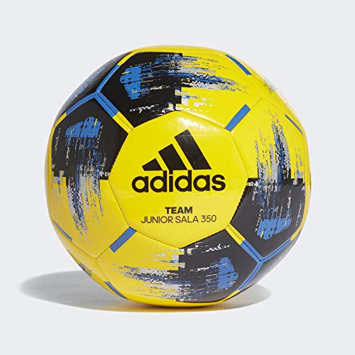 adidas Men\'s Team JS350 Soccer Ball, Yellow/Black/Blue/Silver met, FUTS