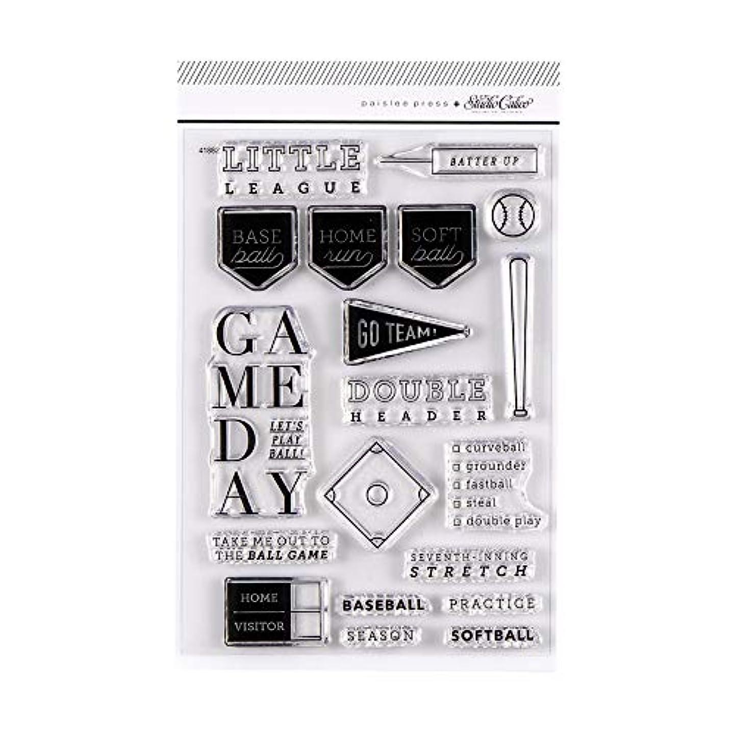 "Paislee Press 4"" x 6"" Baseball and Softball Clear Stamp Set"