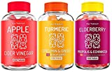 Oso Yummy - Health, Beauty & Wellness Bundle (Turmeric and Ginger Supplement Gummies + Elderberry Gummies + Apple Cider Vinegar with The Mother) for Adults & Kids