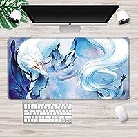 マウスパッド 漫画の印刷マウスパッドコンピューター滑り止めラバーベースマウスパッドラップトップデスクアクセサリーマウスパッドAXl(30X80Cm)