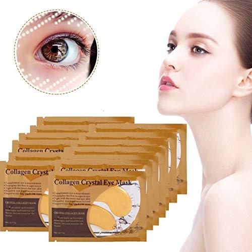 Sonew 50 Pares má scara para Ojos, Parches Ojos ricas en colágeno y vitaminas, Reduce los círculos Oscuros ojeras y la hinchazón Antiarrugas, Anti-envejecimiento para el Cuidado de los Ojos