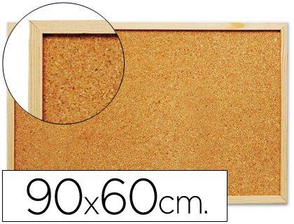 Pizarra corcho 90x60 cm marco de madera