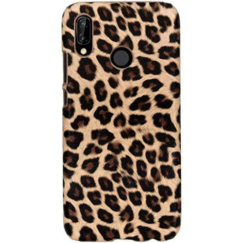 Carcasa rígida de diseño de Leopardo Compatible con iPhone 8 Plus/7 Plus, Compatible con Huawei P20 Lite (Fabricado en Silicona.), Color marrón