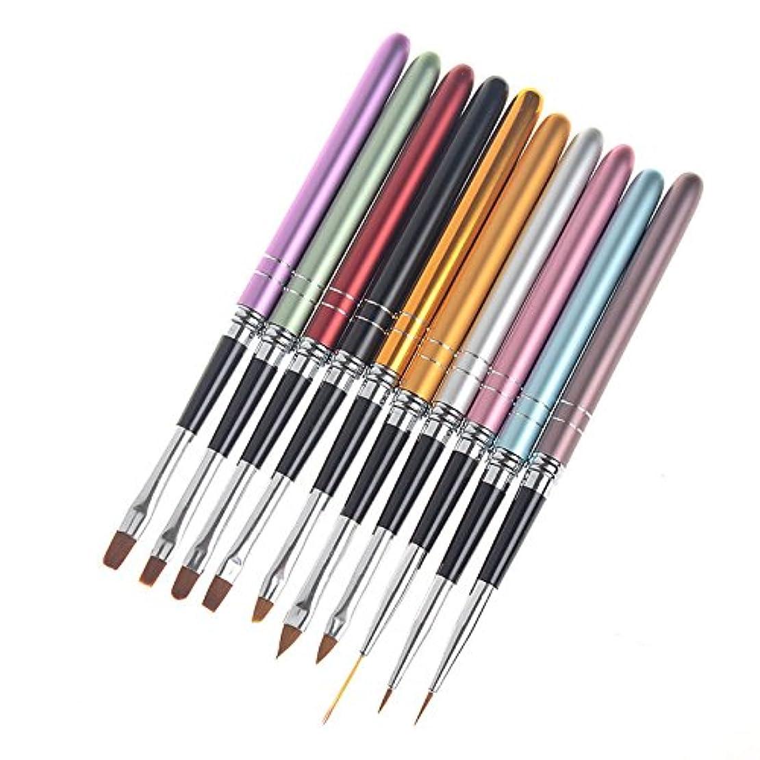 送料甘やかす間欠CUTICATE ネイルペン ブラシペン ネイルブラシ 描画ブラシペン 耐久性 ネイル道具 約10本入り