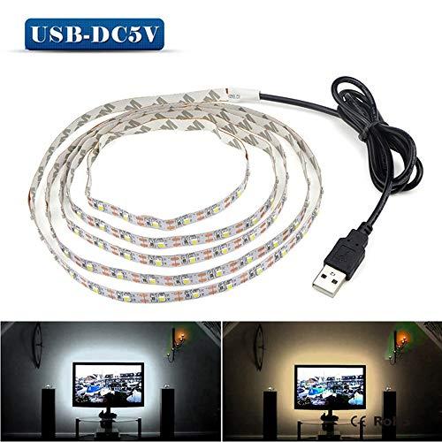 SUNXK 5V 2M 3M 4M 5M USB-kabel stroom LED-TL verlichting kerstverlichting bureau tape TV backlight SUNXK (Color : USB Port, Emitting Color : Warm White)