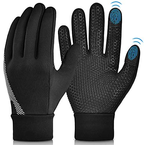 Winter Warm Cycling Kids Gloves - Cold Weather Thermal Running Ski Bike Black Mittens Aged 4-12 Boys Girls M