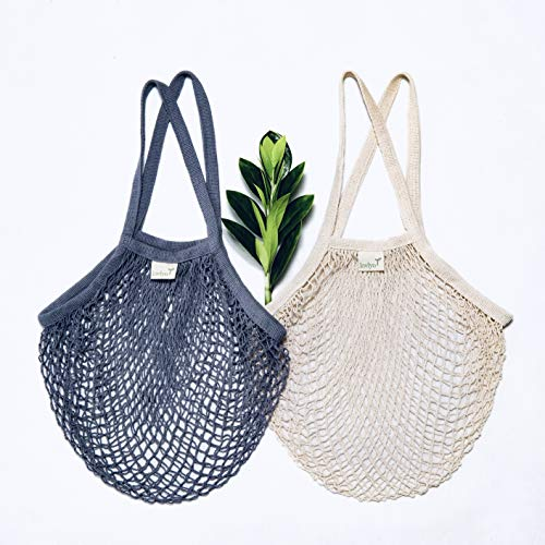 Reusable Grocery Net Bags Cotton Net Tote