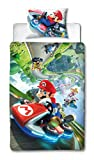 Super Mario Nintendo Kart - Funda de edredón para Cama Individual,...