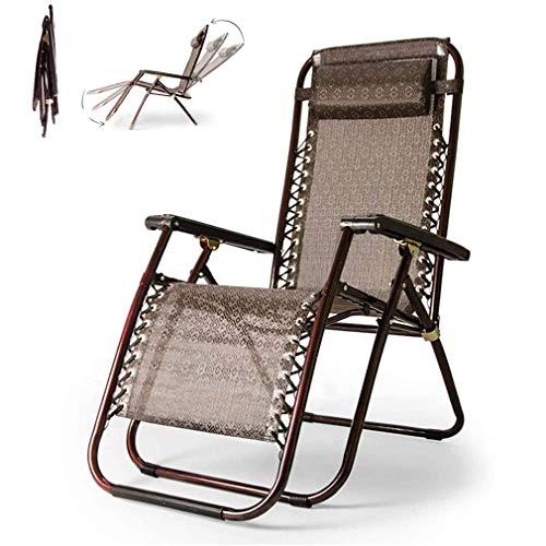 WZDD Liegestuhl Balkon 200 Kg, Sonnenliege Gartenliege Klappliegestuhl Relaxliege Ergonomischer Design-Loungesessel - Verstellbar Rückenlehne - Leicht Zusammenklappbar