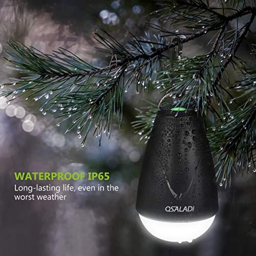 OSALADI 2-in-1 wasserdichte Camping-Laterne, Insektenvernichter, über USB wiederaufladbar, LED-Lampe mit Mückenschutz, gelbes Licht, Option Beleuchtung für Camping, Outdoor, Innen, Notfälle