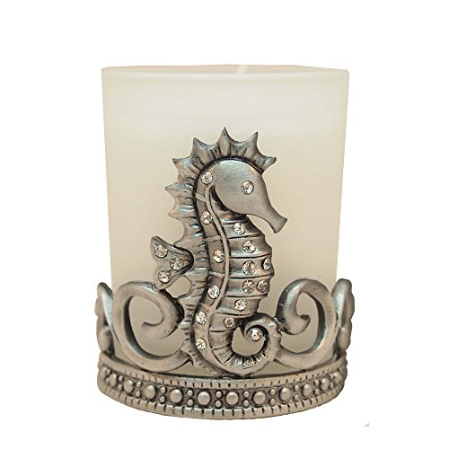 All For Giving Seahorse Votive Candle, Pewter