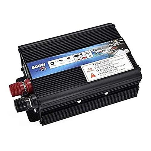 Inversor de energía Onda sinusoidal pura 500W / 1000W / 2000W Convertidor de voltaje DC 12V / 24V a AC 220V / 230V / 240V Convertidor convertidor convertidor con socket y puerto USB,12vto110v,500W