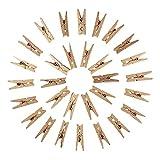 NBEADS 1000pcs pequeña con Pinzas de Madera Nota Clips Pinzas Soportes para Colgar Fotos decoración del hogar artesanía, Oscuro de Color Caqui, 30x 4mm