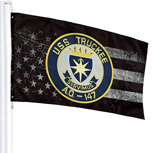 384 Jardín Banner De USS Truckee Ao-147 Bandera De La Yarda Bandera De La Yarda De La Casa Bienvenido Al Aire Libre Vívido 90X150Cm Bandera del Jardín del Césped Patio Trasero Interio