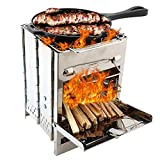 QAZW <span class='highlight'>Portable</span> <span class='highlight'>Folding</span> <span class='highlight'>Charcoal</span> Stove Travel Outdoor Camping Wood Burning Stainless Steel Stove Picnic <span class='highlight'>Bbq</span> <span class='highlight'>Mini</span> Square <span class='highlight'>Grill</span>