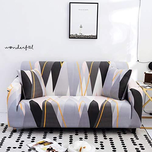 PPMP Funda de sofá de protección para Muebles, Utilizada en la Sala de Estar, Funda de sofá de Esquina, Funda de sofá, Funda de sofá elástica antiincrustante A15, 2 plazas