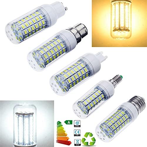 Maíz LED E14 E27 ES BC B22 G9 GU10 5730 SMD LED Luz de maíz Bombillas 7W 9W 12W 15W 20W Lámpara de ampolla brillante Lámpara blanca brillante 220V 110V Decoración del hogar Para dormitorio, baño, sala