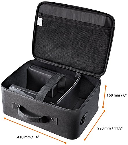 """celexon projector bag Economy""""Large"""" - 41x29x15 cm - hard shell frame - water repellent & washable - 100% polyester - black"""