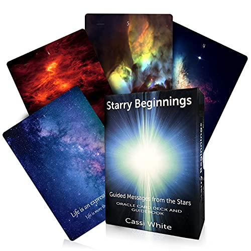 Starry Beginnings Oracle Cards | 44-Card Deck and Guidebook | Beautiful Galactic Colorful Images and divinely Channelled Messages for Lovers of Oracle Cards