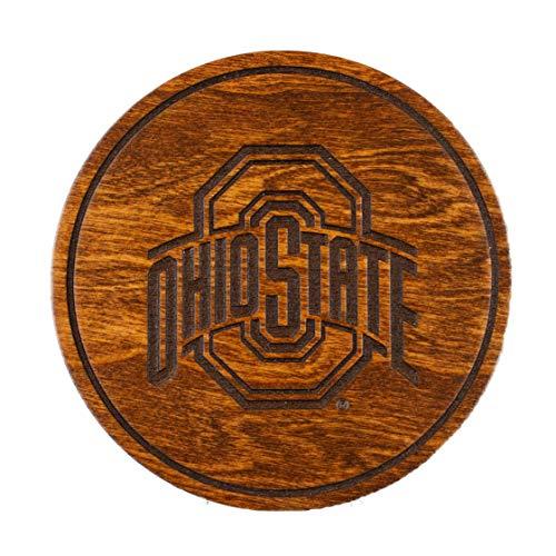 LazerEdge NCAA Wooden Coasters (Set of 4) (Ohio State Buckeyes)