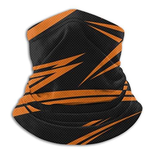 G.H.Y Orange und schwarzer Hintergrund Hals Gamasche Schild Schal Atmungsaktiver winddichter Gesichtsschal für Motorrad Radfahren Wandern Ski Outdoor Sport
