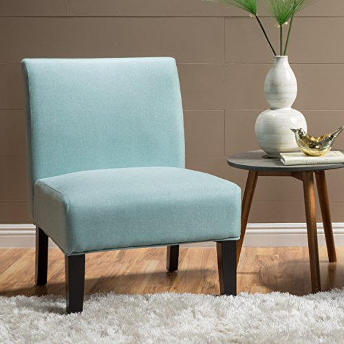 Christopher Knight Home Kassi Fabric Accent Chair, Light Blue