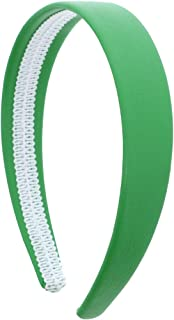 1 Inch Wide Leather Like Headband Solid Hair band for Women and Girls (Kelly Green)