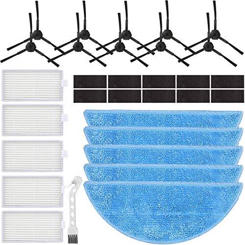QAQGEAR Kit Parti di Ricambio per aspirapolvere per aspirapolvere Robot ILIFE V5s PRO V5s V5 V3 V3s (Panno per mop, spazzole Laterali, fliters, Strumento di Pulizia), Confezione da 31