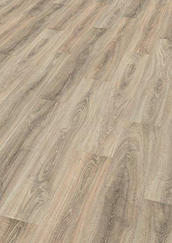 EGGER Home Designboden - Eiche sägerau grau EHD002 (5mm kompakt, 1,989 m²) Klick Design Laminat robust, strapazierfähig, pflegeleicht, wasserfest und PVC frei