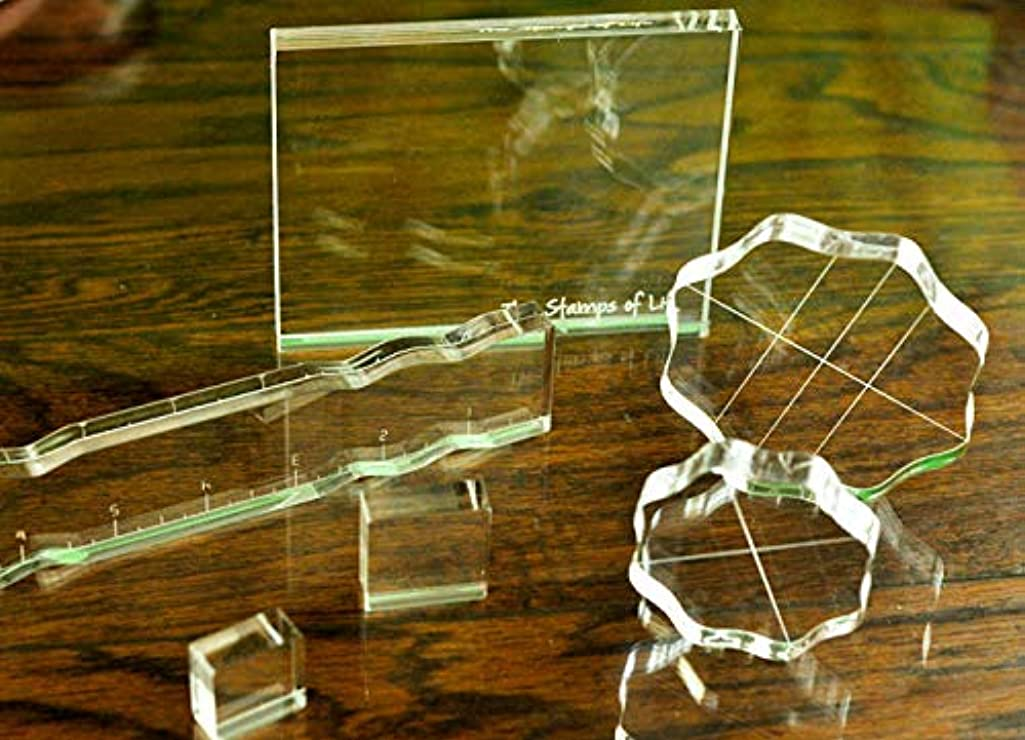 Acrylic Blocks for Card-Making and Scrapbooking Supplies by The Stamps of Life- Group C
