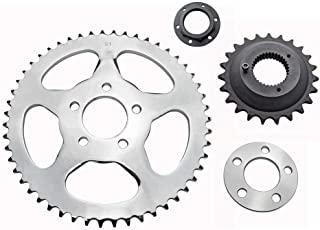 Belt-to-Chain Conversion Kit - Fits 2000-2006 Harley Sportster XL Models - 23 Tooth Front Sprocket / 51 Tooth Rear Sprocket for 530x120 Chain (19-0761)