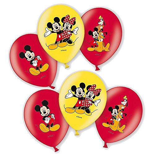 Mickey Mouse Ballons de Fête   6 Pièces   Disney Enfants Fête Anniversaire