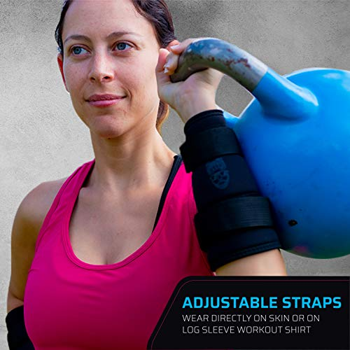 THEFITGUY Kettlebell Wrist Arm Guards, Adjustable Straps, Thick Padding for Kettlebell Impact Cushioning (Pair)