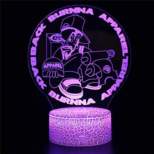 3D ilusión noche luz LED lámpara de escritorio control táctil Burna luces para niños táctil USB lámpara lámpara de mesa bebé dormir luz movimiento