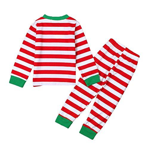 Hibote Neonato Bambino Pajama Set Morbido Confortevole Maniche Lunghe Ragazzo/Ragazza Pigiama di Natale a Strisce