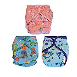 commercial Leila May All-in-One Baby diaper, adjustable AIO size 1 piece, 3 sets aio cloth diapers