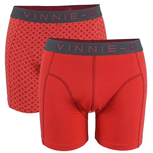 Vinnie-G Flamingo heren boxershorts 2-pack Rood/Print-S