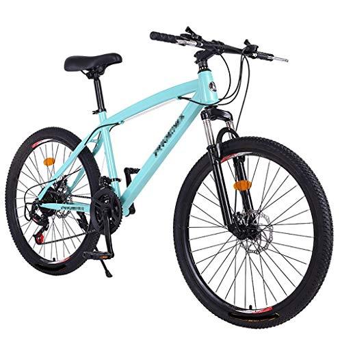 Vélos De Banlieue pour Hommes Vélos De Montagne, Freins À Double Disque, Amortisseurs, Vélos Légers À 21 Vitesses Variables, Antidérapants Et Antirouille, 24 Pouces Et 26 Pouces
