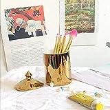 Accesorio de baño Accesorio Nórdico Estilo Cerámica Gold Pen Holder Cepillo Barril Maquillaje Brocha Belleza Cepillo Tubo Maquillaje Brocha Barril Cepillo de Dormido Copa Vela Taza