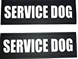 Albcorp Reflective Service Dog Patches with...