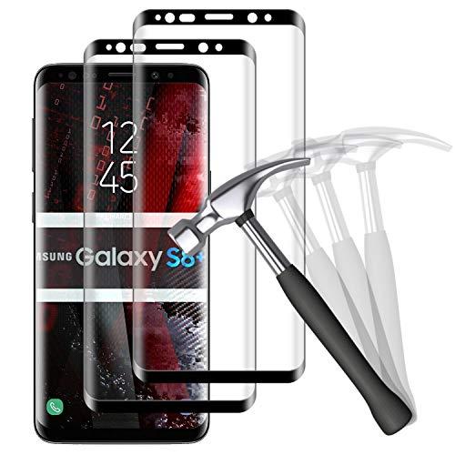 NUOCHENG [2 Stück Panzerglas Schutzfolie kompatibel mit Samsung Galaxy S8 Plus/S8+, Full Screen Panzerglasfolie, 9H Härte, Anti-Fingerabdruck, Anti-Öl, Displayschutzfolie für Samsung S8 Plus/S8+