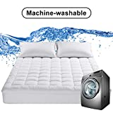 EDILLY Full XL Size Cooling Mattress Topper,Premium Hotel Quality Mattress Pad Cover,Protector for Bed Cotton Top Pillow Top Ultra Soft Overfilled with Deep Pocket Luxury