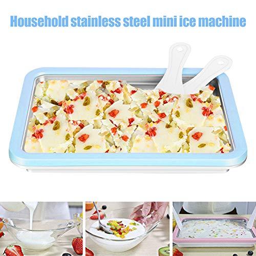 Adealink Instant Ice Cream Maker Yogurt Sorbet Gelato Ice Roll DIY Maker Pan for Kids