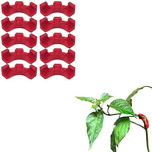 HHKX100822 Dobladora De Plantas De 90 Grados para Entrenamiento De Bajo EstréS Y Entrenamiento De Plantas Kit De ManipulacióN del Crecimiento De Plantas 10pcs Rojo